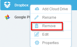 deleting added cloud drives from MultCloud