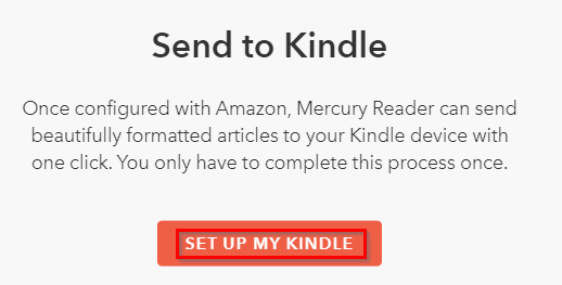 linking Mercury Reader with Kindle