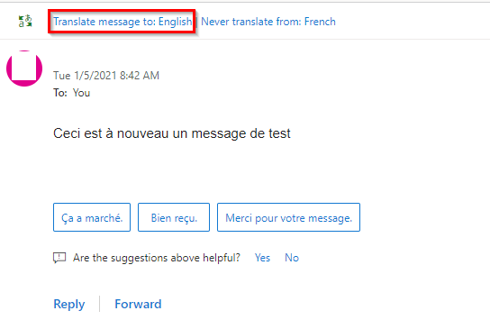 prompt for translation in Outlook.com based on translation settings