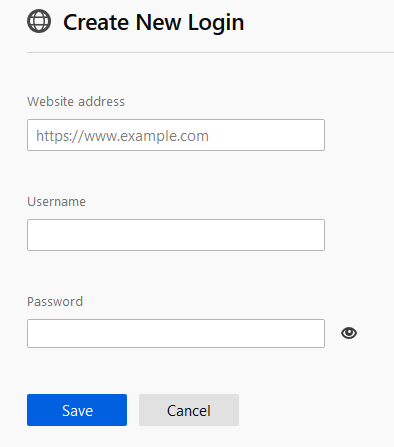 website details and credentials using Firefox Lockwise