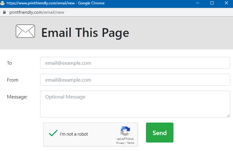 email web pages using Print Friendly & PDF