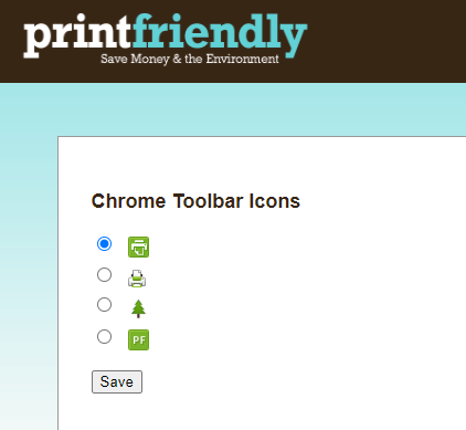 changing appearance of Print Friendly & PDF icons