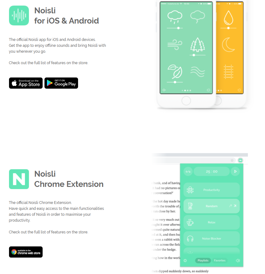 Noisli iOS and Android apps
