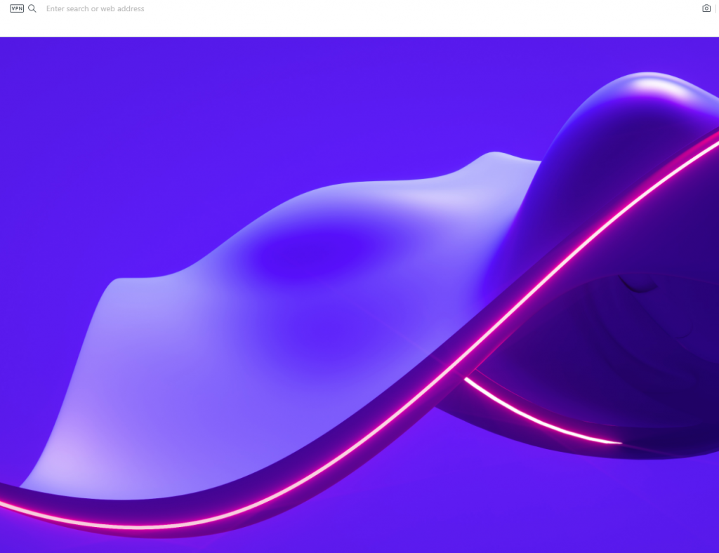 wallpaper from the Opera add-ons page set for the new tab
