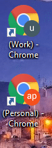work and personal Chrome profiles with different Google accounts