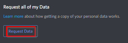 Requesting data from Discord
