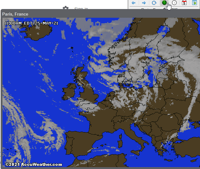 weather map in Forecastfox