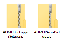 zip files for the giveaway versions of AOMEI products