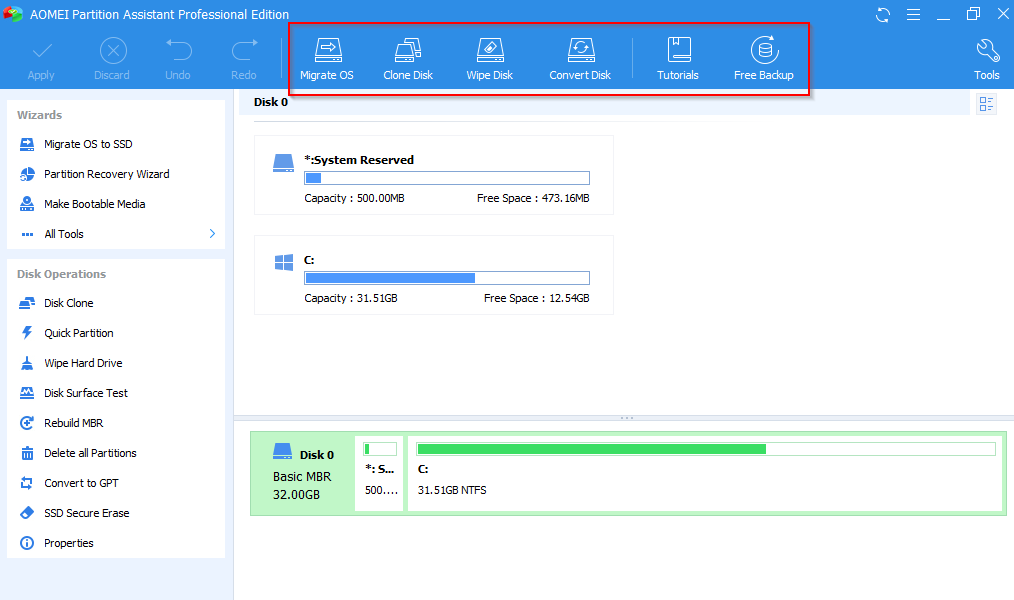 AOMEI Partition Assistant Pro registered giveaway version