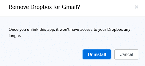revoke permissions of connected apps from Dropbox