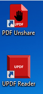 uPDF reader installed along with PDF Unshare Pro