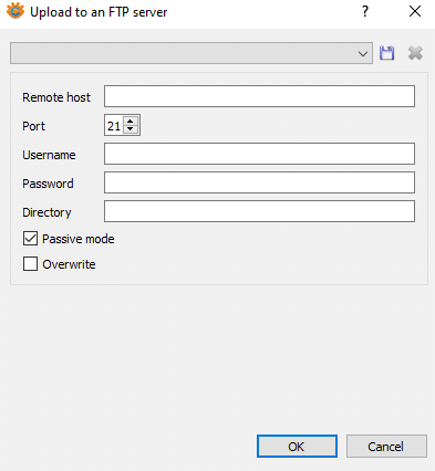 configuring FTP settings in XnConvert for uploading processed images