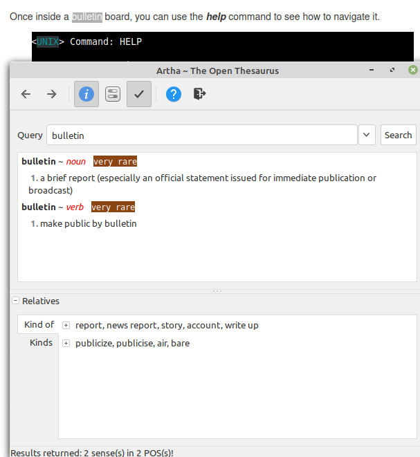 using the Artha hotkeys to highlight words from documents and web pages to look them up
