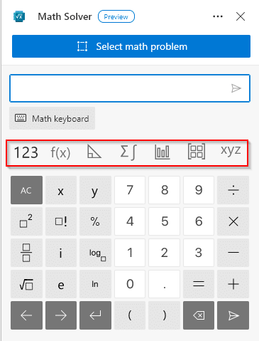 typing in math problem