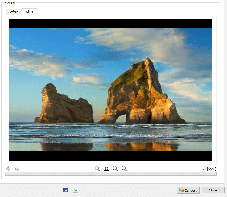previewing images during editing in XnConvert
