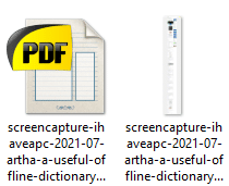screenshots can be saved as PDFs and images