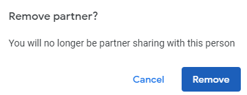 partner removed from google photos