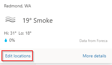 editing default location for Calendar in Outlook.com
