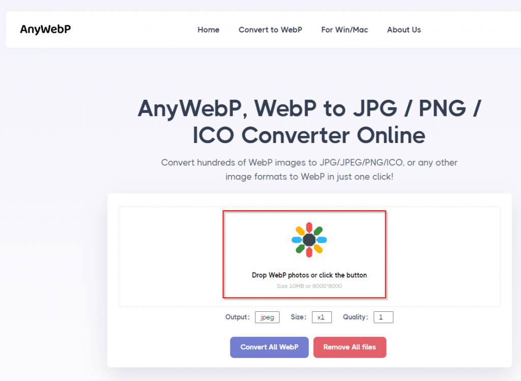 AnyWebP home page
