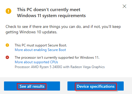 list of PC compatibility issues with Windows 11