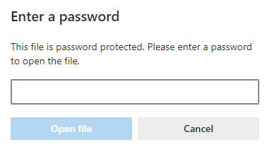 password protect option in PDF Mixer