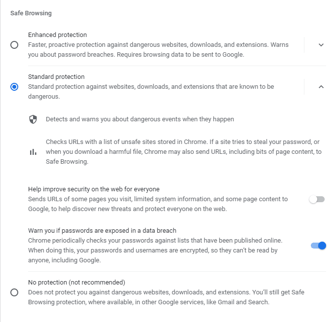 Safe Browsing in Chrome
