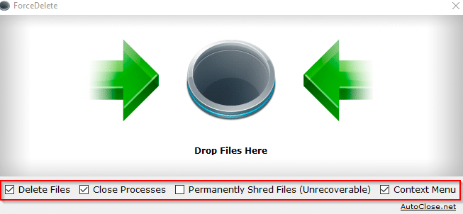ForceDelete interface